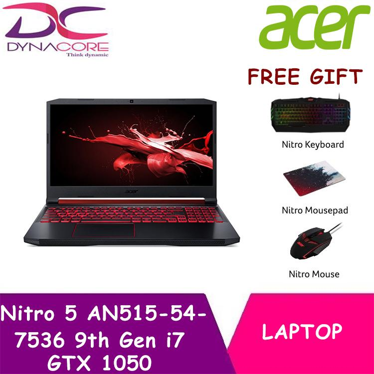 DYNACORE - Acer Nitro 5 AN515 54 7536 with the Latest 9th Gen i7 Intel Processor and GTX 1050 Graphics - Free Gift with Purchase