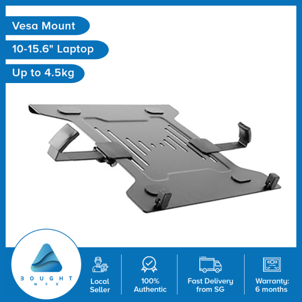 Laptop Holder Mount Tray Monitor Arms And Stands Notebook Arm Mount Tray Fits 75 x 75 & 100 x 100 mm VESA Mount Holes 4.5kg 10-15.6 Brateck