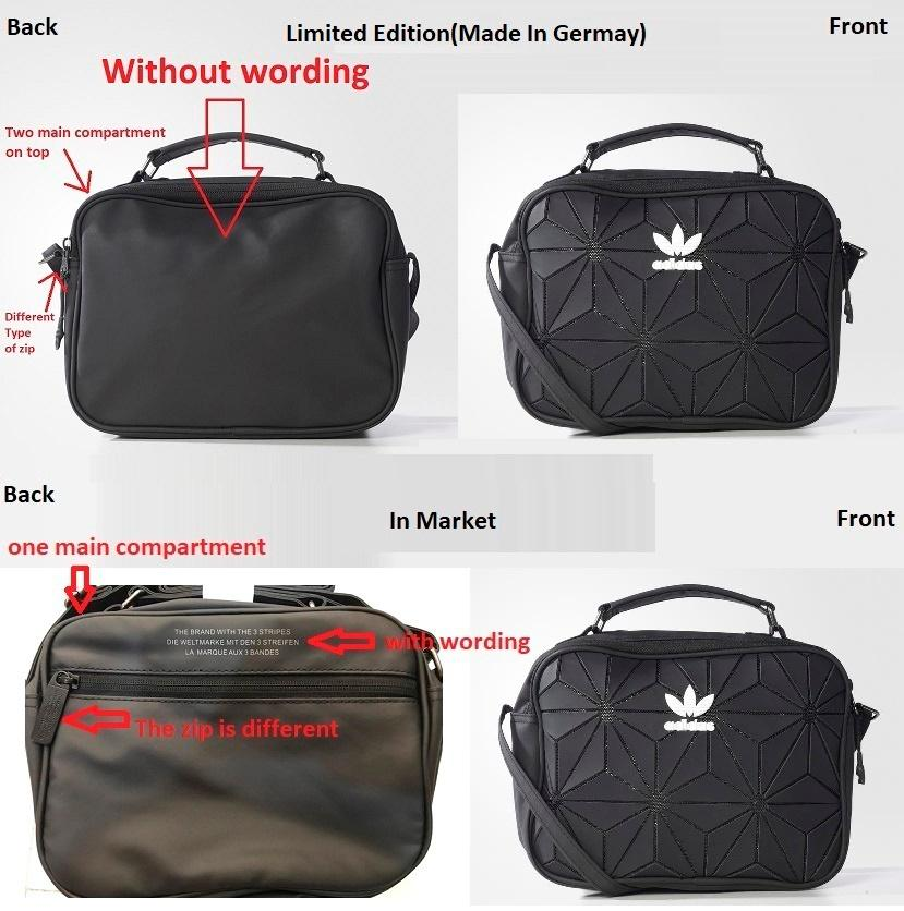 7b455e7b7270a8 Adidas 3D Mini Airliner Bag (without wording behind)