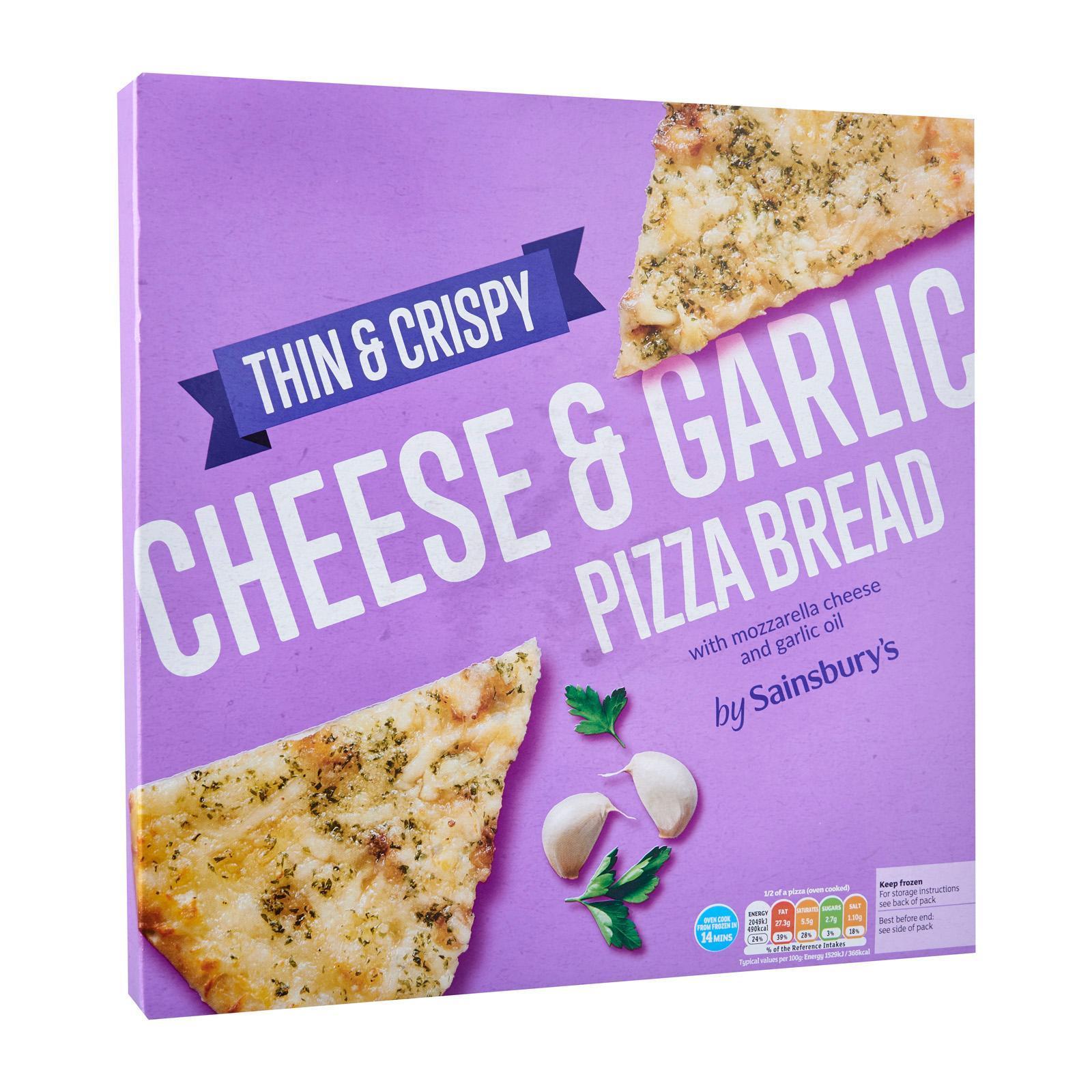 Sainsbury's Garlic And Cheese Pizza Bread - Frozen