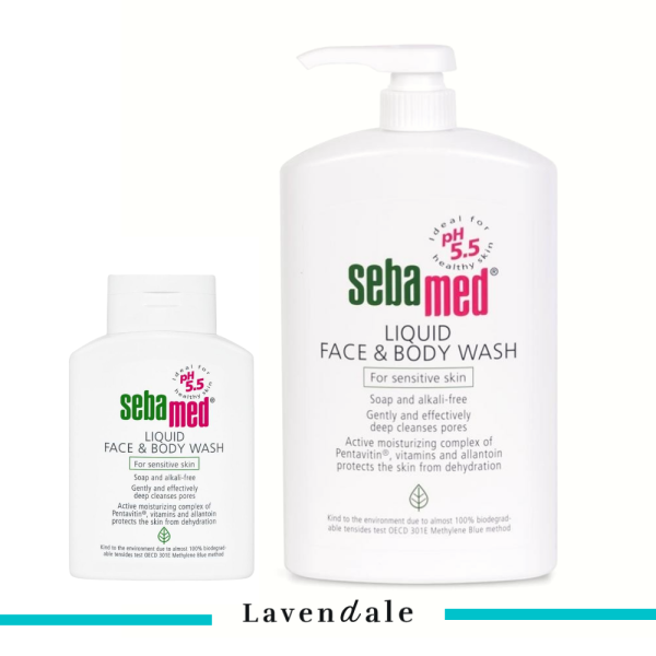 Buy [Value Set] Sebamed Liquid Face & Body Wash For Sensitive Skin pH 5.5 1L + 200ml Singapore