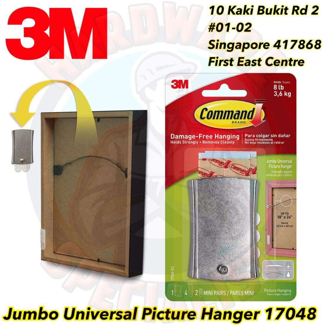 3M Command Jumbo Universal Picture Hanger 17048 (3.6kg)