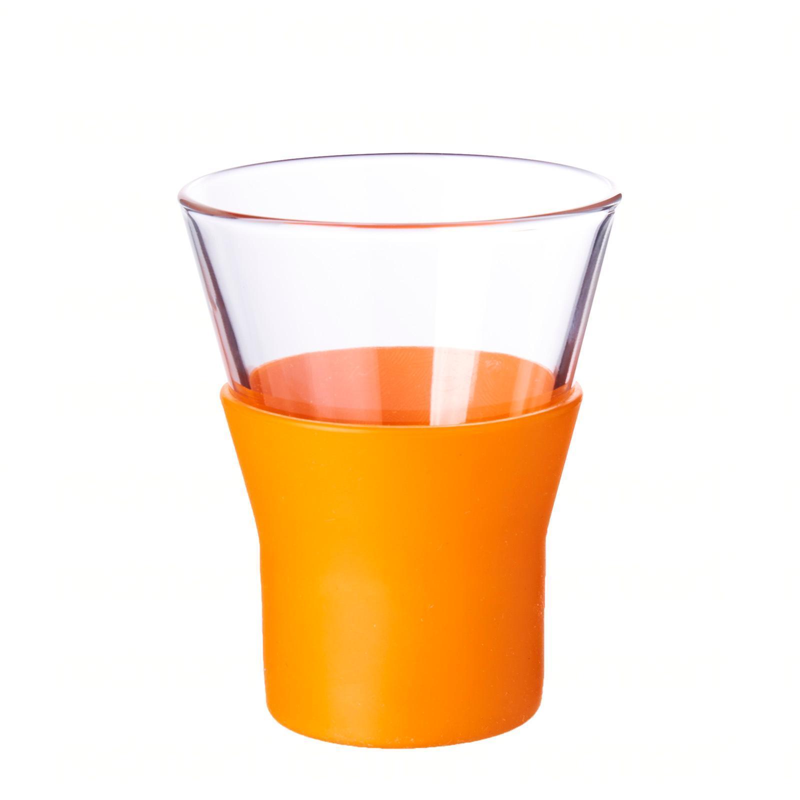 Bormioli Rocco Ypsilon Brio Orange Cappuccino Glass 22Cl