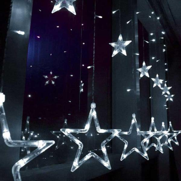 [ Starzdeals ] 2.5 Meters 12 Stars 138 Led Outdoor Decorative Party Fairy Lights Curtain , Power Point