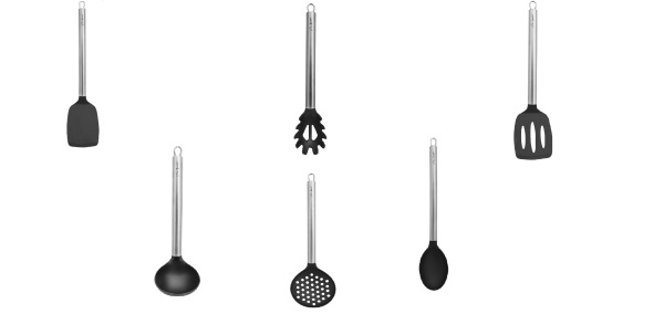 Lamart Nylon Cooking Utensils with Stainless-Steel Handle - Inox Singapore