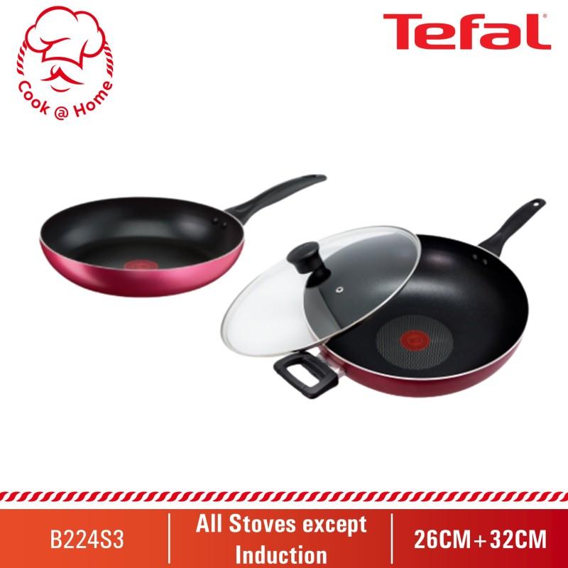 Tefal Light & Clean 3pcs Set (FP26cm+WP32cm w/lid) B224S3 Singapore