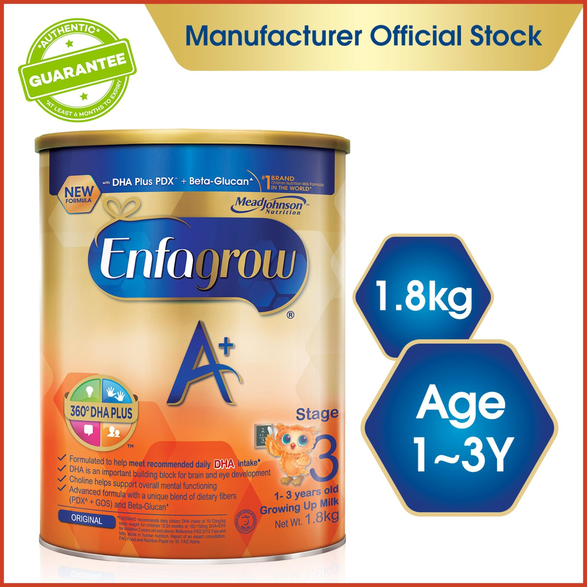 Enfagrow A+ Stage 3 Baby Formula Milk Powder 360dha+ (1-3y) 1.8kg By Lazada Retail Enfagrow.
