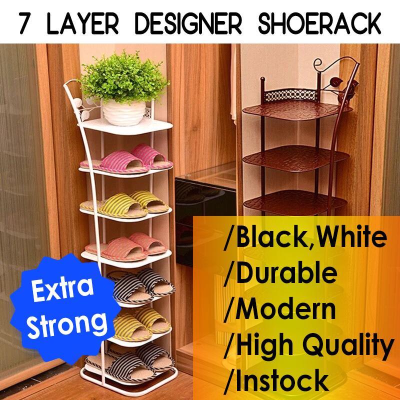 Multi Layer Shoe Rack/ Modern/ Durable/ High Quality/ 7 Layer/ INSTOCK / White/ Black/ Organizer
