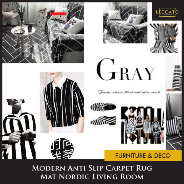 💖Singapore Seller💖Fast Delivery💖Modern Anti Slip Carpet Rug Mat Nordic Living Room Cheap Sale