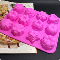 Latest 12 Holes Different Flowers Ice Chocolate Making Tools Silicone Cake Mold Candy Jelly Soap Modeling Mould A