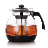 Buy 1200Ml Heat Resistant Glass Teapot With Stainless Steel Strainer Cheap On Singapore