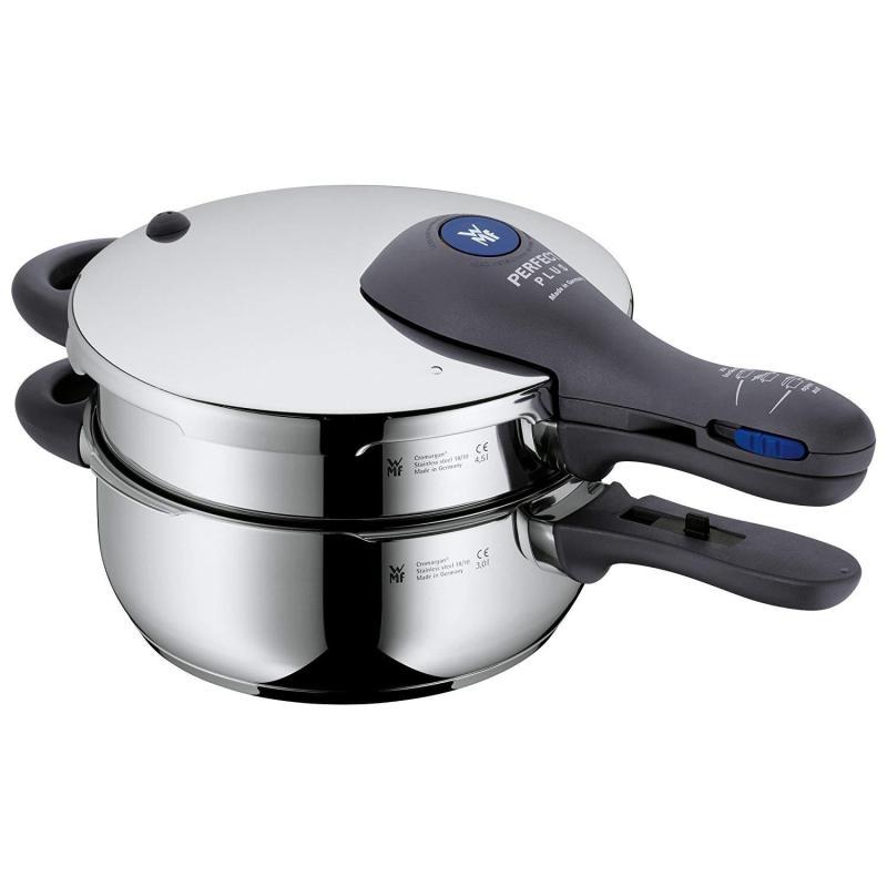 {Christmas Special} WMF Perfect Plus 2-Piece Saucepan Set Pressure Cooker Stackable Singapore