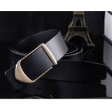 Review 120Cm ±5Cm Men New Korean Style Cow Leather Belt Mbt206 1 Black China