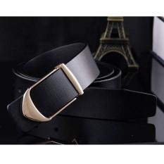 Deals For 120Cm ±5Cm Men New Korean Style Cow Leather Belt Mbt206 1 Black