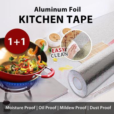 Kitchen Oil Proof Aluminum Foil Magic Tape Mildew Sticker Moisture Shoe Cabinet Drawer Mat Protector