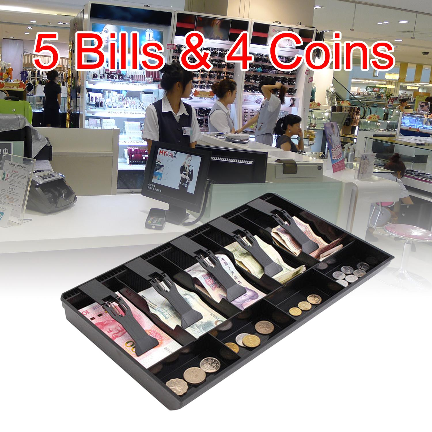 Elec 5 Grids Money Tray Store Cash Drawer Security Register Storage Box Insert Tray By Electron3c.