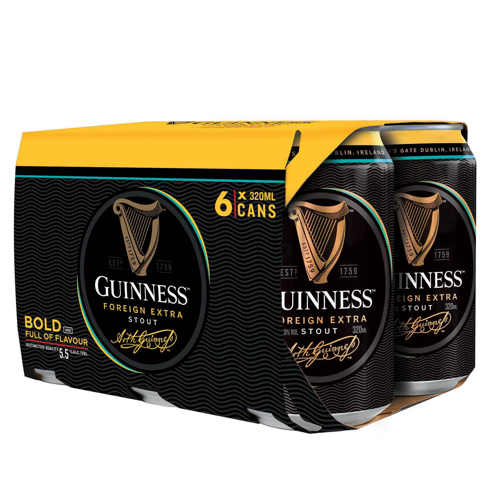 GUINNESS Foreign Extra Stout Beer 6sX320ml