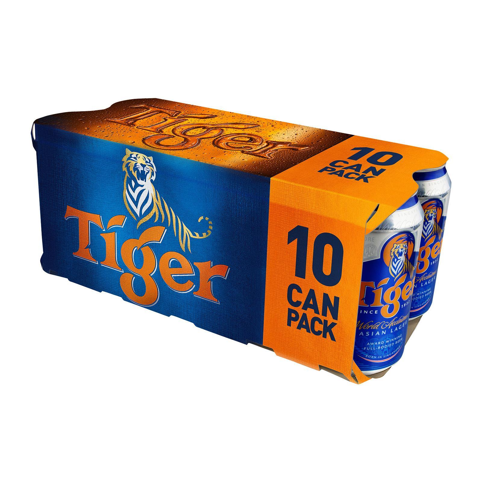 Tiger Lager Beer 10 X 330ml By Redmart.