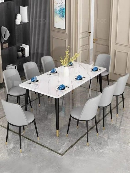 [PRE-ORDER] IVO Faux Marble Dining Table