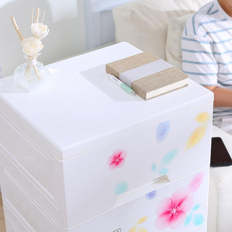 Qic Infant Baby Closet Plastic Drawer-type Storage Cabinets Sub-Cartoon Children Chest of Drawers Finishing Box Storage Cabinets