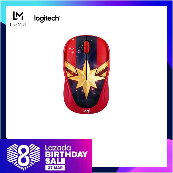 Logitech M238 Captain Marvel Marvel Collection Wireless Mouse