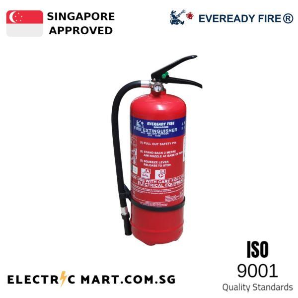 Eveready 4KG ABC Portable Fire Extinguisher Dry Powder Class A B c/w Bracket (PSB Singapore Listed)