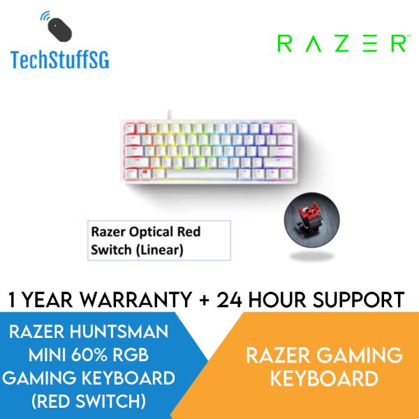 Razer Huntsman Mini 60% (Red Optical Linear Switch) Gaming Mechanical Keyboard with Razer Chroma RGB Singapore