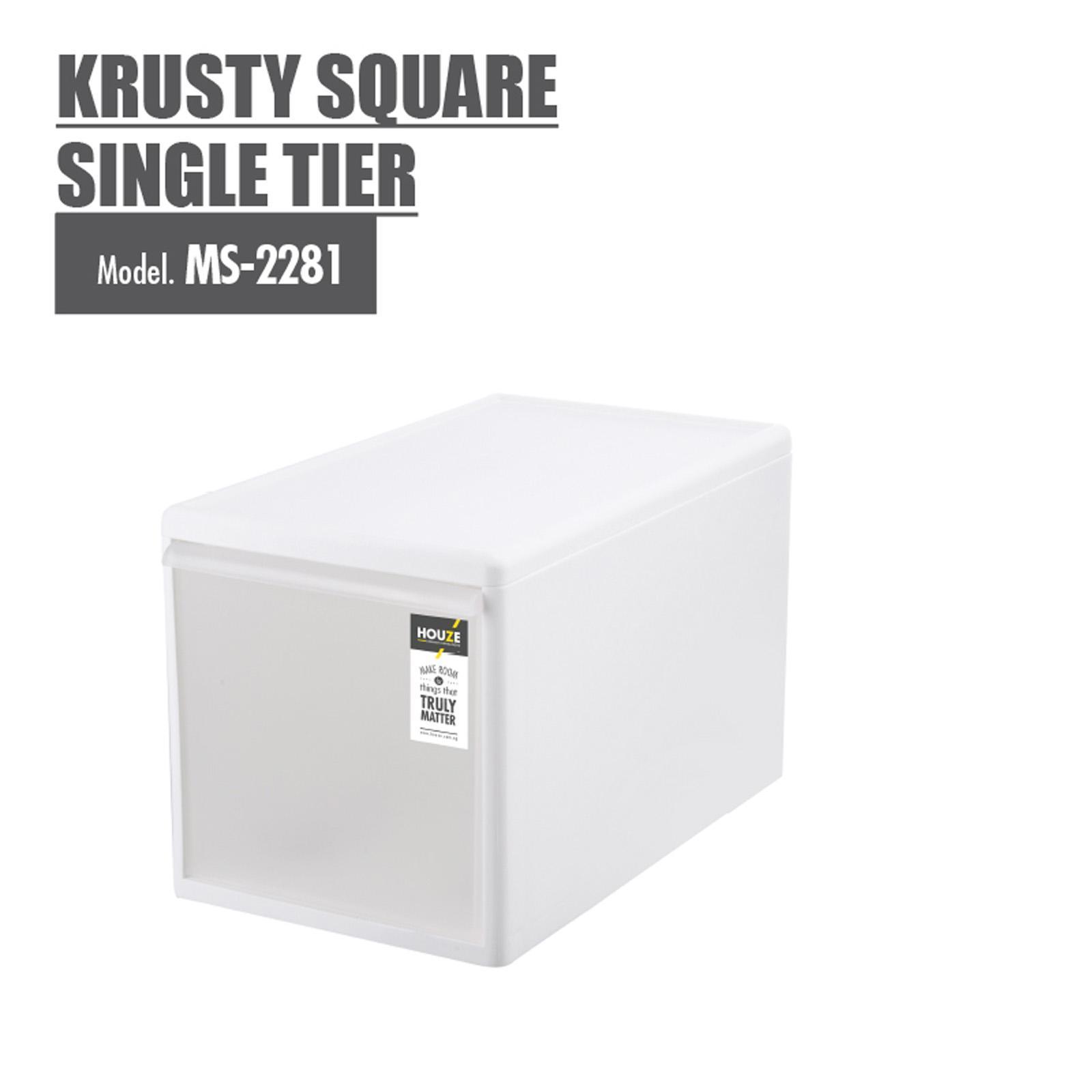 HOUZE Krusty Square Single Tier Drawer