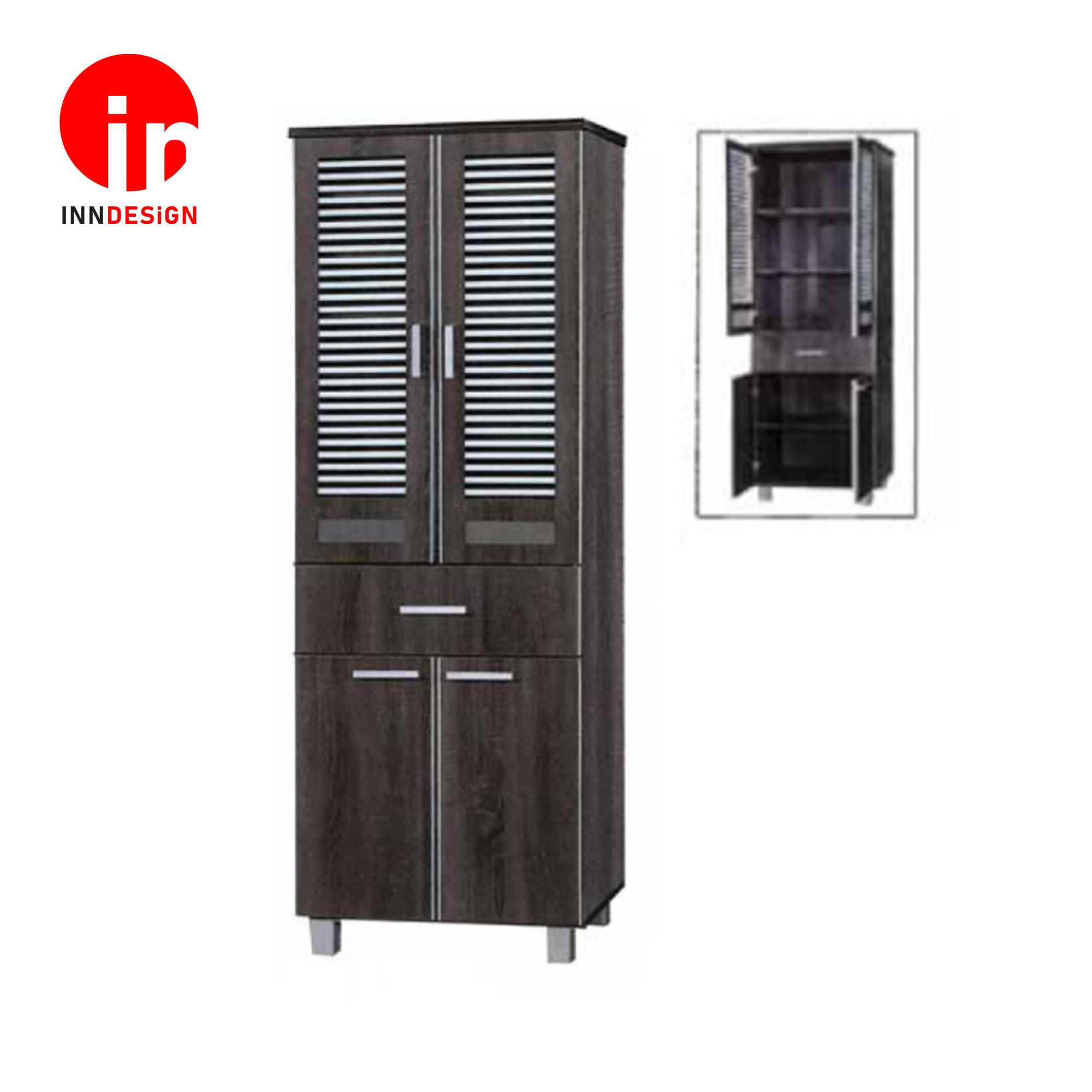 Cassiva 6 Doors Tall Kitchen Cabinet (Free Delivery and Installation)