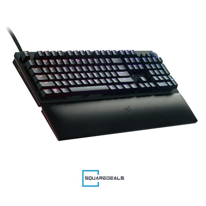 Razer Huntsman V2 Analog RGB Optical Gaming Keyboard Doubleshot PBT keycap US Singapore