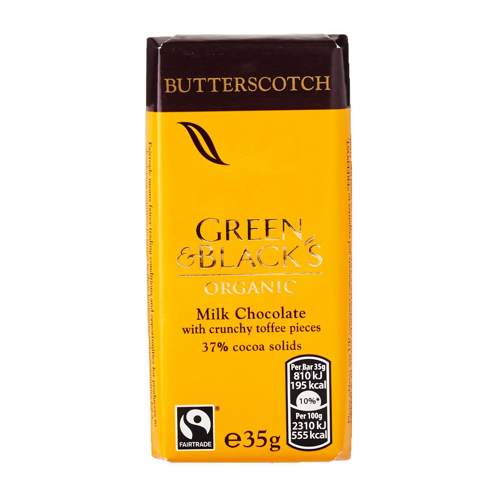 Green & Black's Organic Milk Chocolate With Butterscotch Pieces
