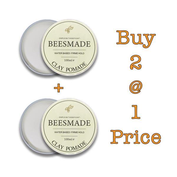 Buy *Bundle Deal* BEESMADE Hair Clay Pomade x 2 Singapore