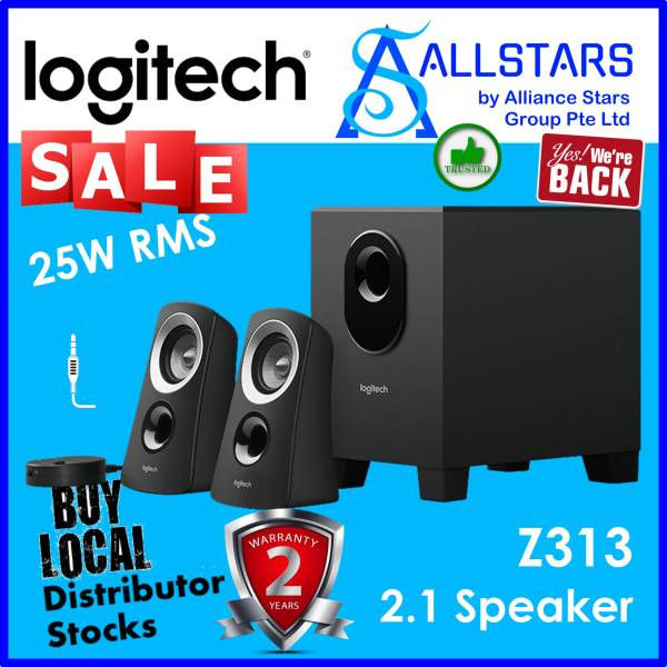 (ALLSTARS : We are Back / Audio Sound Promo) Logitech Z313 2.1 Speakers System with Subwoofer (980-000413)-Warranty 2years with Local Distributor BanLeong