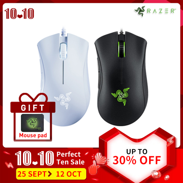 Razer DeathAdder Essential 6400DPI Right Hand Ergonomic Design Wired Gaming Mouse 5 Independently Buttons For Laptop PC Gamer