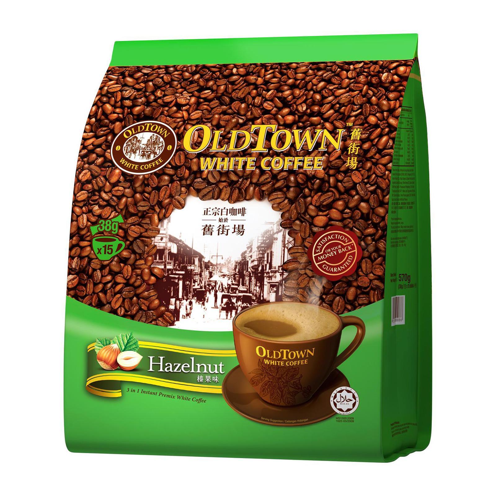 OLD TOWN White Coffee 3 in 1 Hazelnut 15sX38g