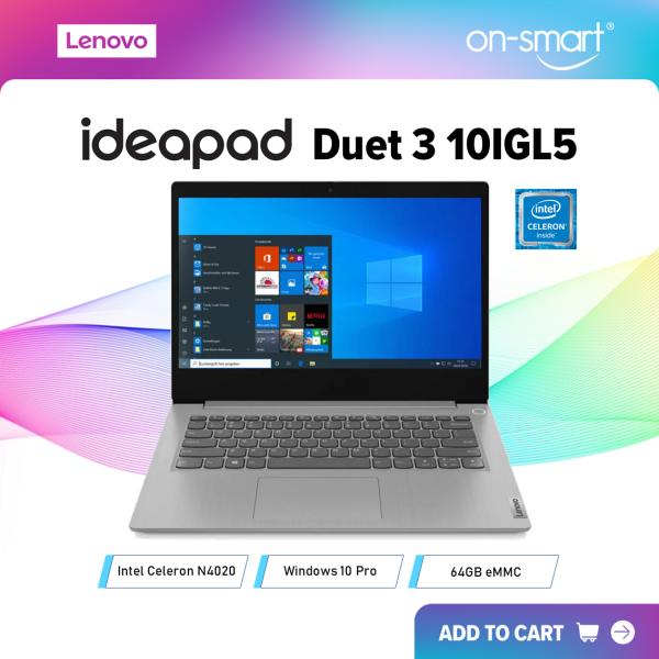 【Next Day Delivery】Lenovo IdeaPad Duet 3 10IGL5 | Intel Celeron N4020 Processor | 4GB DDR4 RAM | 64GB EMMC | Intel Integrated Graphics | Windows 10 Pro | 1 Year On-Site Warranty