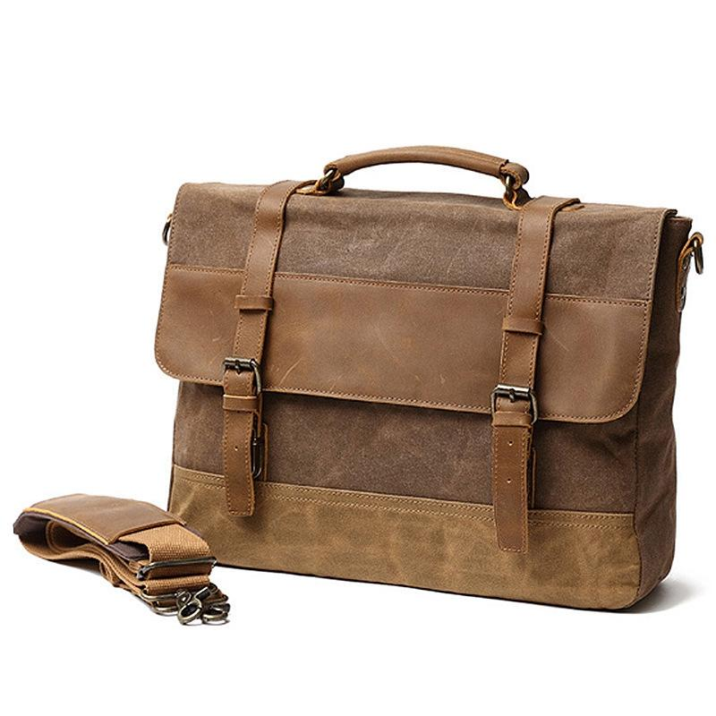 Mens Canvas Crossbody Bags Messenger Shoulder Bag for Man Handbags Laptop Bag Outdoor Travel Bag