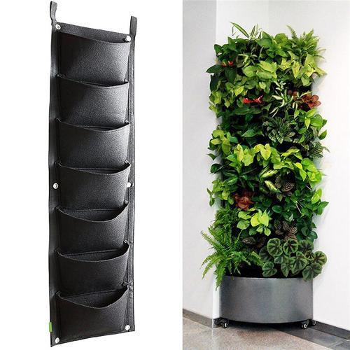 7/18/36 Pockets Vertical Hanging Wall Garden Planter Plant Grow Bag Flower Vegetable