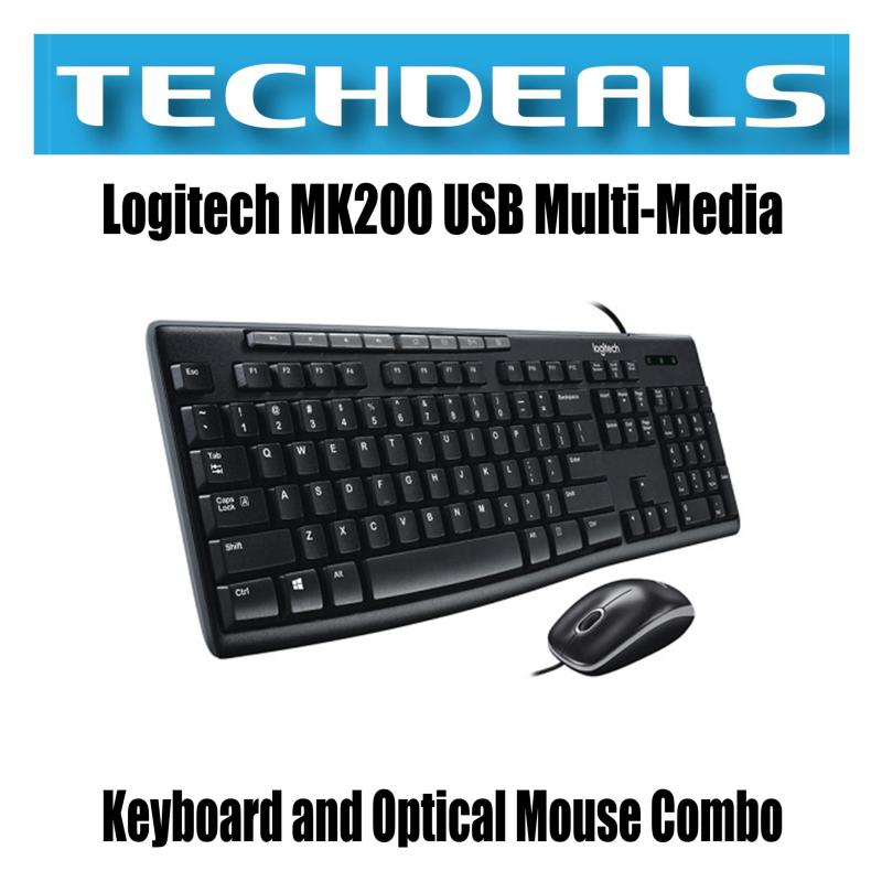 Logitech MK200 USB Multi-Media Keyboard and Optical Mouse Combo Singapore