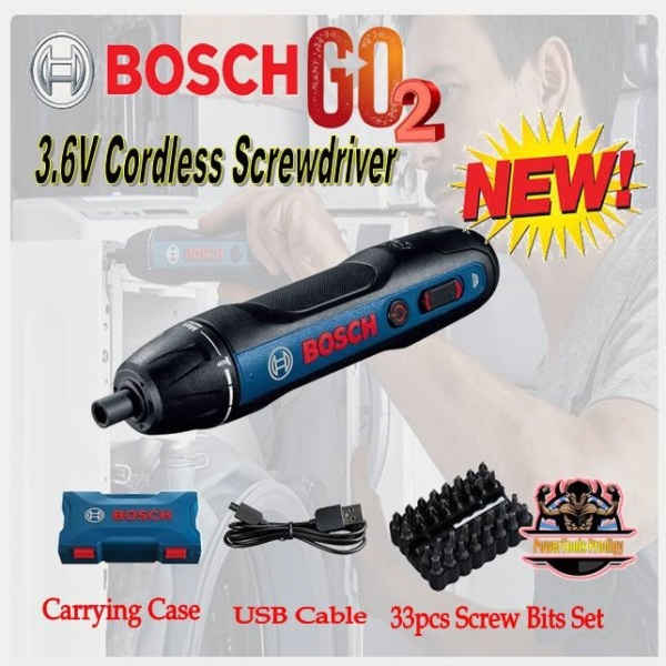 BOSCH GO 2 3.6V CORDLESS SCREWDRIVER [COMES WITH 33 PCS ACCESSORIES]