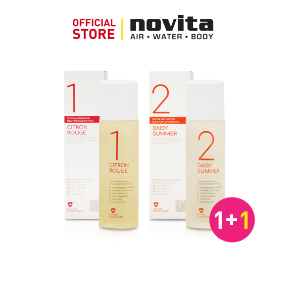 [YEAR END SALE] novita Air Purifying Solution Concentrate (Pack of 3) + FOC Aroma Diffuser NA200 Black Singapore