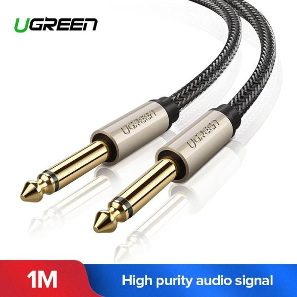 UGREEN 1 Meter Premium 6.35mm Mono Jack TS Cable Unbalanced Guitar Patch Cords Instrument Cable Male to Male with Zinc Alloy Housing and Nylon Braid-Intl Singapore