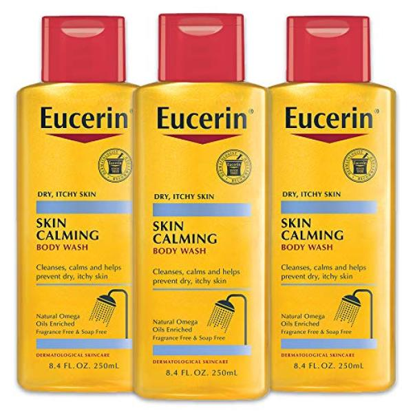 Buy (USA)Eucerin Skin Calming Body Wash - Cleanses and Calms to Help Prevent Dry, Itchy Skin - 8.4 fl. oz. Bottle (Pack of 3) Singapore