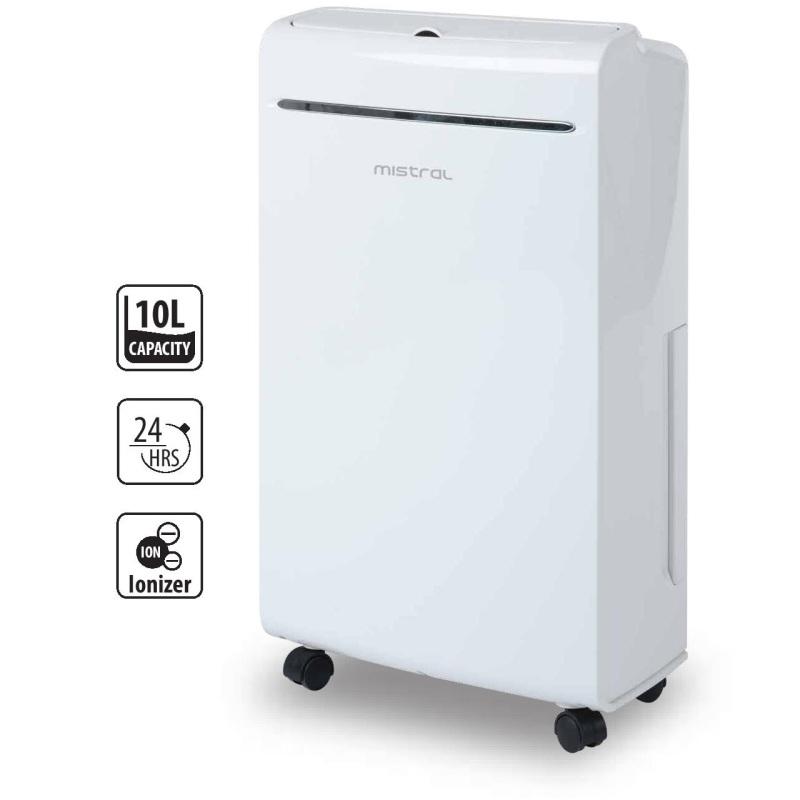 Mistral MDH100 10L Dehumidifier with Ionizer & UV Singapore