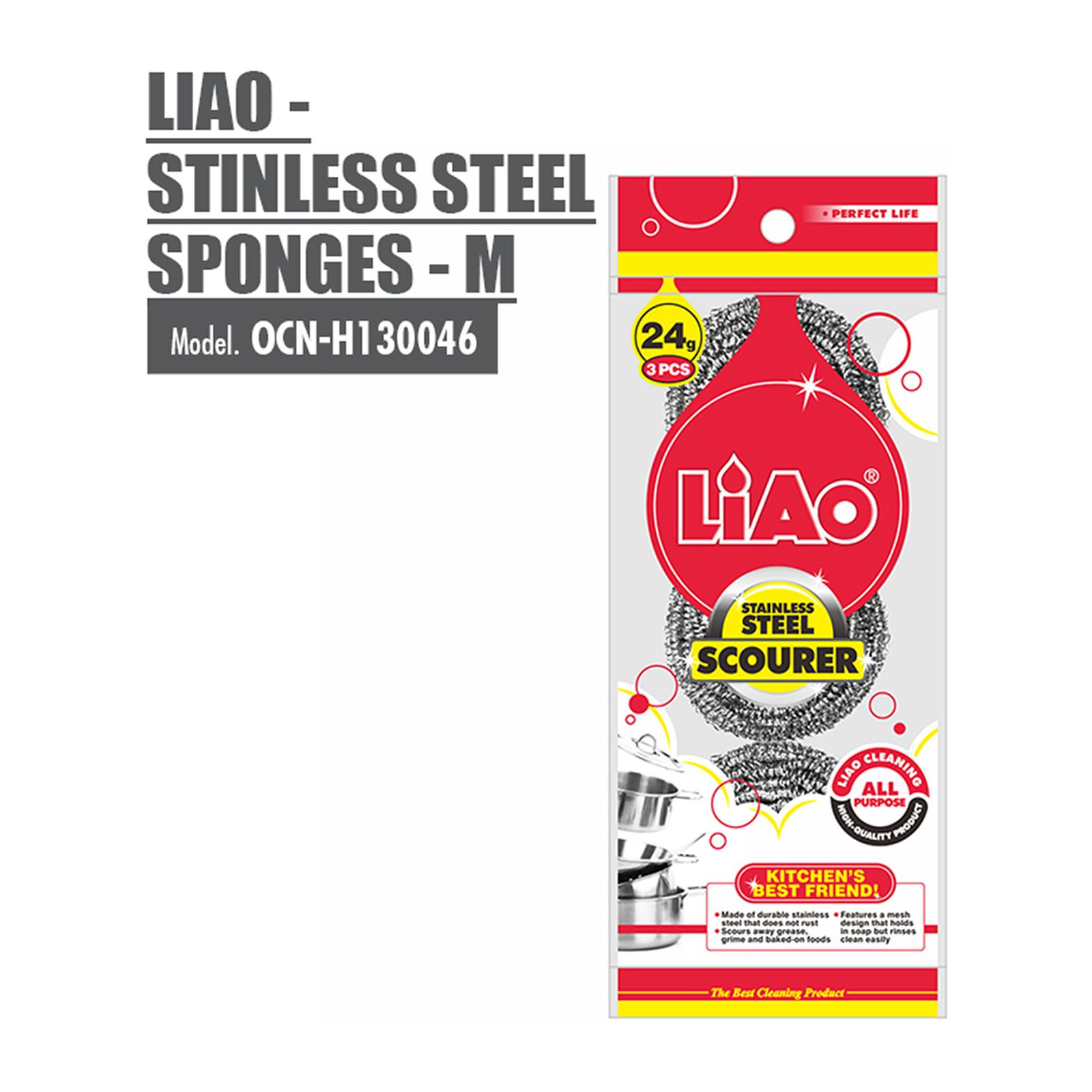 LIAO Stainless Steel Sponges - M