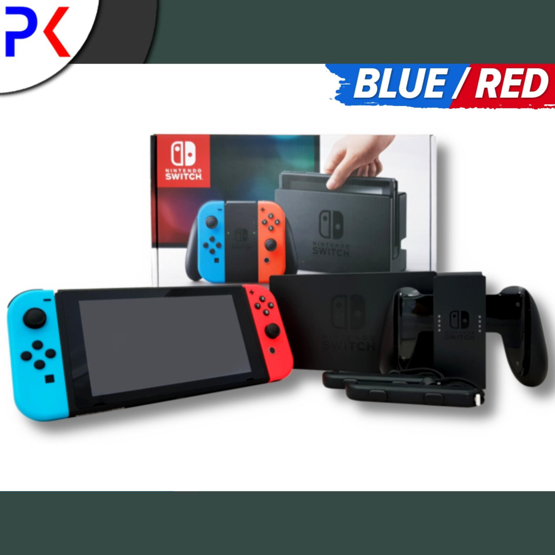 Nintendo Switch Console With Neon Blue/red Joy-Con By Peppkouri.