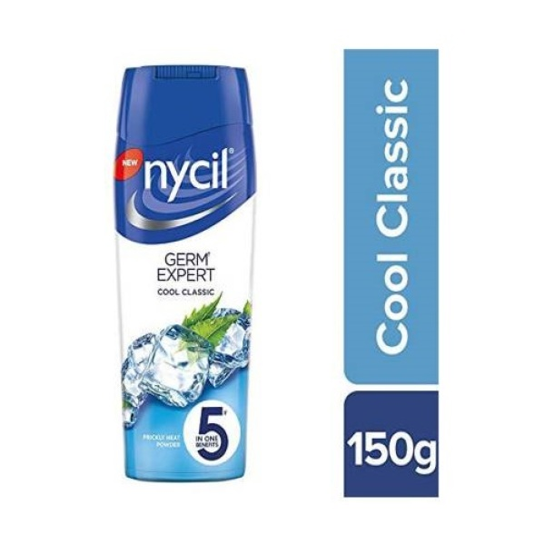 Buy Nycil Germ Expert Cool Classic Prickly Heat Powder, 150g- 5 In One Benefits Singapore