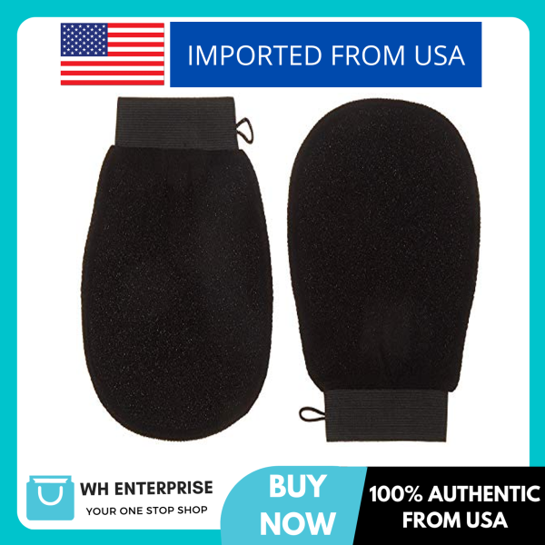 Buy Premium Extreme Exfoliating Mitts (Pair) | Korean Style Exfoliation | Large | Ultra-Thin Compact Design | Keratosis Pilaris | Glove Loofah | Body Microdermabrasion Cloth | Spray Tan Prep & Removal Singapore