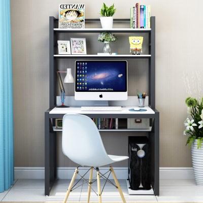 Aimero Shop Computer Desk Desktop Household Simple Economy Office Desk Bookshelf Combination Students Table