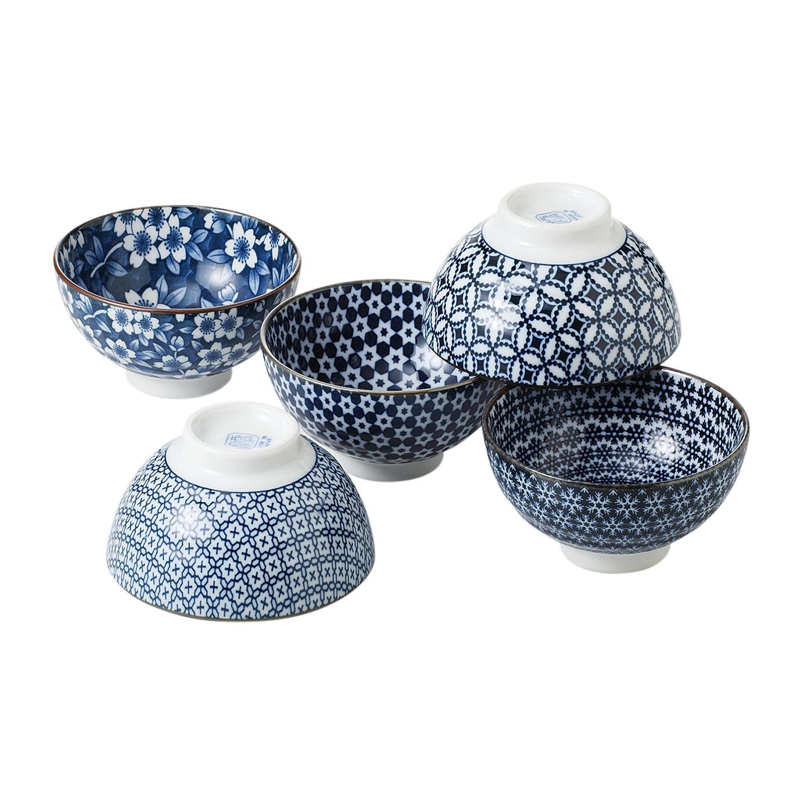 Tsuru 78 - 54 - 45 5 PCS Rice Bowl Set